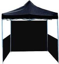 Folding gazebo tent canopy black 250x250cm with