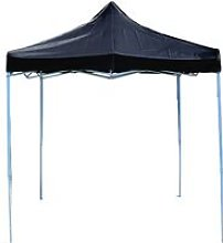 Folding gazebo tent canopy black 300x300cm -