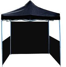 Folding gazebo tent canopy black 300x300cm with