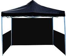Folding gazebo tent canopy black 300x450cm with
