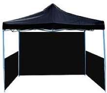 Folding gazebo tent canopy black 300x450cm with