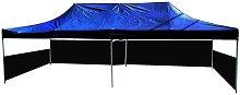 Folding gazebo tent canopy black 300x600cm with
