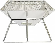 Folding Grill Collapsible Camping Fire Pit