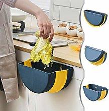 Folding Hanging Waste Bin for Kitchen Cabinet