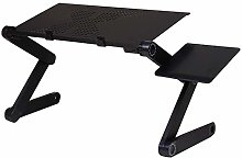 Folding Laptop Table Stand for Bed, Portable Lap