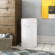 Folding Laundry Bin Breakwater Bay Finish: White
