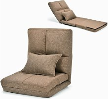 Folding Lazy Floor Sofa Chair Adjustable Gaming