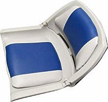 Folding Marine Boat Seat in Grey and Blue