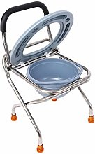 Folding Medical Stainless Steel Bedside Commode