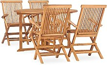 Folding Outdoor Dining Set, Garden Table and