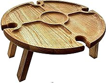 Folding Picnic Wine Table, Wooden Outdoor Table