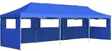 Folding Pop-up Party Tent with 5 Sidewalls 3x9 m