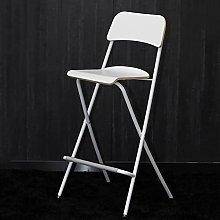 Folding Portable Bar Stool with Backrest,