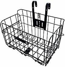 Folding Rear Bike Basket, Wire Mesh Detachable