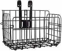 Folding Rear Bike Basket,Wire Mesh Fold-Up
