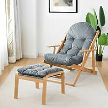 Folding Recliner Armchair Lounge Padded Lazy Sofa