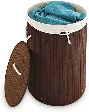 Folding Round Laundry Basket, 41 cm Diameter, 65