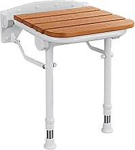 Folding Shower Seat, Wall Mounted Wood Shower