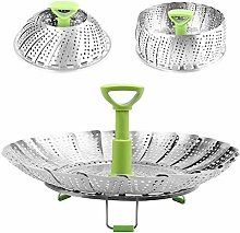 Folding Steamer Basket with Anti-hot Extendable