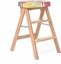 Folding Step Ladder/Stool Stepladder 3 Tread, Wood