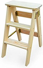 Folding stool solid wood step stool kitchen high