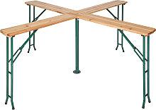 Folding table Quattro 241 x 241 x 103 cm - brown
