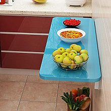 Folding wall-mounted workbench, deciduous table,