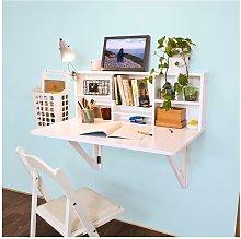 Folding Wooden Wall-Mounted Drop-Leaf Table Desk