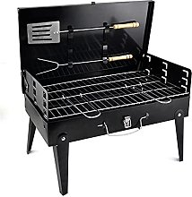 Folds Down Barbecue Grill, Folding Charcoal
