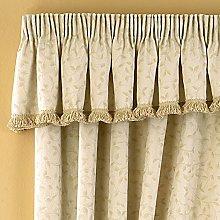 Folia Leaf Jacquard Pencil Pleat Curtain Valance