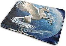 FONSMAY Indoor Area Rug, Flying Unicorn with Moon