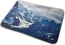FONSMAY Indoor Area Rug, Mountains High Snow Soft