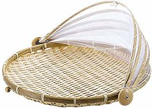 Food Dome Bamboo Food Tray with Food Cover Bamboo