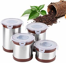 Food Jar,4Pcs Household Small Spice Jars Stainless