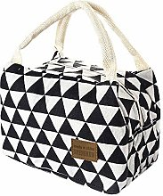 Food Lunch Bag Tote Bag for Women Wide Open