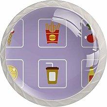 Food Purple Drawer Round Knobs Cabinet Pull