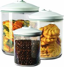 Food Saver FSC003-I 3 Piece Round Canister Set 0.7