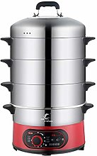 Food Steamer, 220V 1300W Large Capacity Stainless
