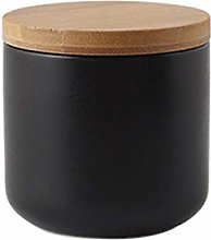 Food Storage Canister with Airtight Wooden Lid -