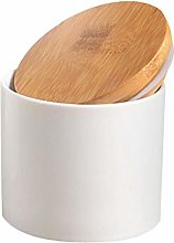 Food Storage Canister with Airtight Wooden Lid,
