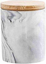 Food Storage Jar with Airtight Seal Bamboo Lid,