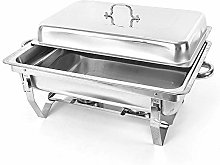 Food Warmer Stainless Steel 9 L Chafing Dish
