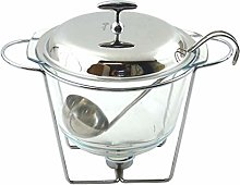 Food Warmer Stainless Steel Glass Silver Elegant