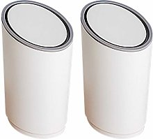 Food Waste Bin for Home and Kitchen, White Plastic