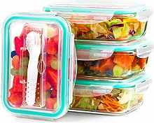 FoodBuddy Glass Food Storage Containers with Lids