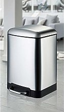 Foot-operated trash can Trash Can Stainless Steel