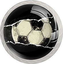 Football Pattern Drawer Round Knobs Cabinet Pull