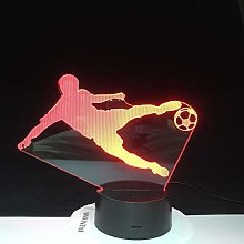 Football Playing USB Birthday Party 3D LED Night