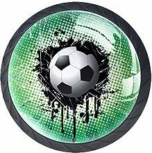 Football Seal Crystal Drawer Handles Furniture