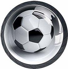 Football Sport 4 Pieces Crystal Glass Wardrobe